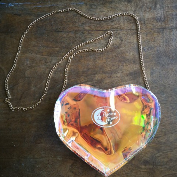 41ed701aa270 Holographic Heart Messenger Bag crossbody purse